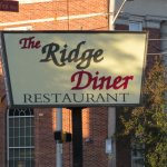 Sign announcing that you have arrived at Ridge Diner in Park Ridge, NJ.