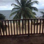 View front our beachfront balcony.