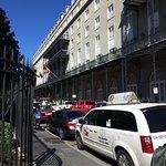 Great wrought iron balcony
