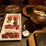 The full Main Course fondue selection
