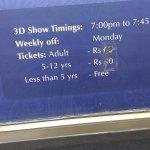 3D show timings