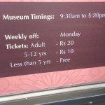 Museum Timings