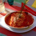 Lasagne aux courgettes et à la mozzarella. Très bon!