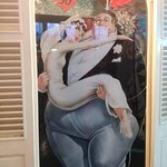 Uomo più grasso del mondo con sua moglie
