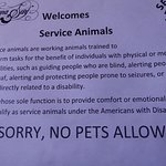 Service pet guidelines (as posted in the elevator)