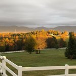 Morning in the fall in the Blue Ridge Mountains couldn't be more beautiful.