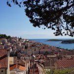 On the way up to the Fortress, view over top of Hvar roofs