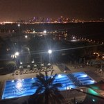 Night view from high pool side room