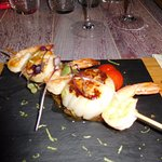 coquille + gambas