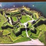 overhead shot of Fort Charles -- massive!
