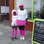 Marje the owner and her daughter Tashi just after they completed a charity race.