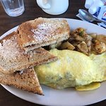 ABC Omelet, Home Fries and Oven Baked Toast