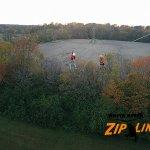 racing on the zipline