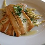 Pan-seared Trout over wild rice and wax beans