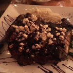 OMG! The specials are oh so good! This is the rib eye special with crumbled cheese and mushrooms