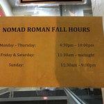 exterior & Fall hours