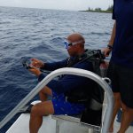 Tony diving with Living the Dream Divers