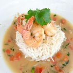 Delicious shrimp scampi appetizer