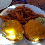 Tuna Melt with Sweet Potato Fries (huge portions!)