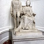 Lovely statue of Queen Victoria and Albert at end of the art gallery