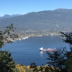 mountain, North Vancouver and Burrard inlet
