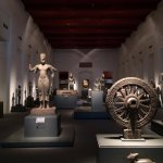 the first exhibition hall places antique from different era.