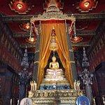 One of sacred Buddha image is house in Bhudthai Sawan throne hall