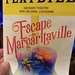 The playbill for Escape to Margaritaville.