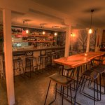 Walker bros wine bar, bar stools, banquet and booth seating