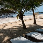 one of he private beaches shuttle available to, has food and bar on site