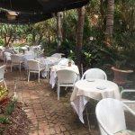 Outdoor dining is available