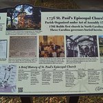 Walking tour sign by St Paul's Episcopal church