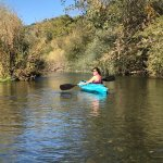Kayaking down the Russian River