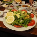 Beautiful salads and sandwiches