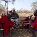 Local Maasai Chief serves each of us.