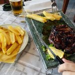 good entrecote, thick fries