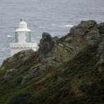 A peek at the lighthouse from the track down (zoomed in!)