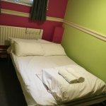 Kinlay House - the bed is very comfortable; and even looking out on Lord Edward St, very quiet