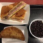 Cuban sandwich / empanada / rice and beans
