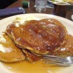 Five large sweet potato pancakes