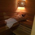 Séance sauna, très agréable et relaxant, lieu parfait pour se reposer et se détendre