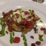 vegetable gratin with Iberico ham