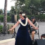 Live music, a hula dancer, and the sunset, could it get any better?!