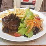 Steak with chips