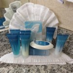 AquaMarine Bath Products on counte