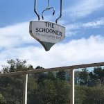 The Schooner's boat-shaped sign