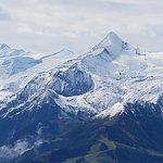 Snowy Peaks across the Valley