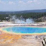 Grand Prismatic Spring, taken from the lookout at the Fairy Falls trail.