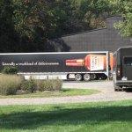 Truck Trailer at loading dock, Maker's Mark Distillery.