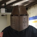 You can try on some of the armour.